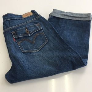 LEVIS ANKLE CROPPED JEANS